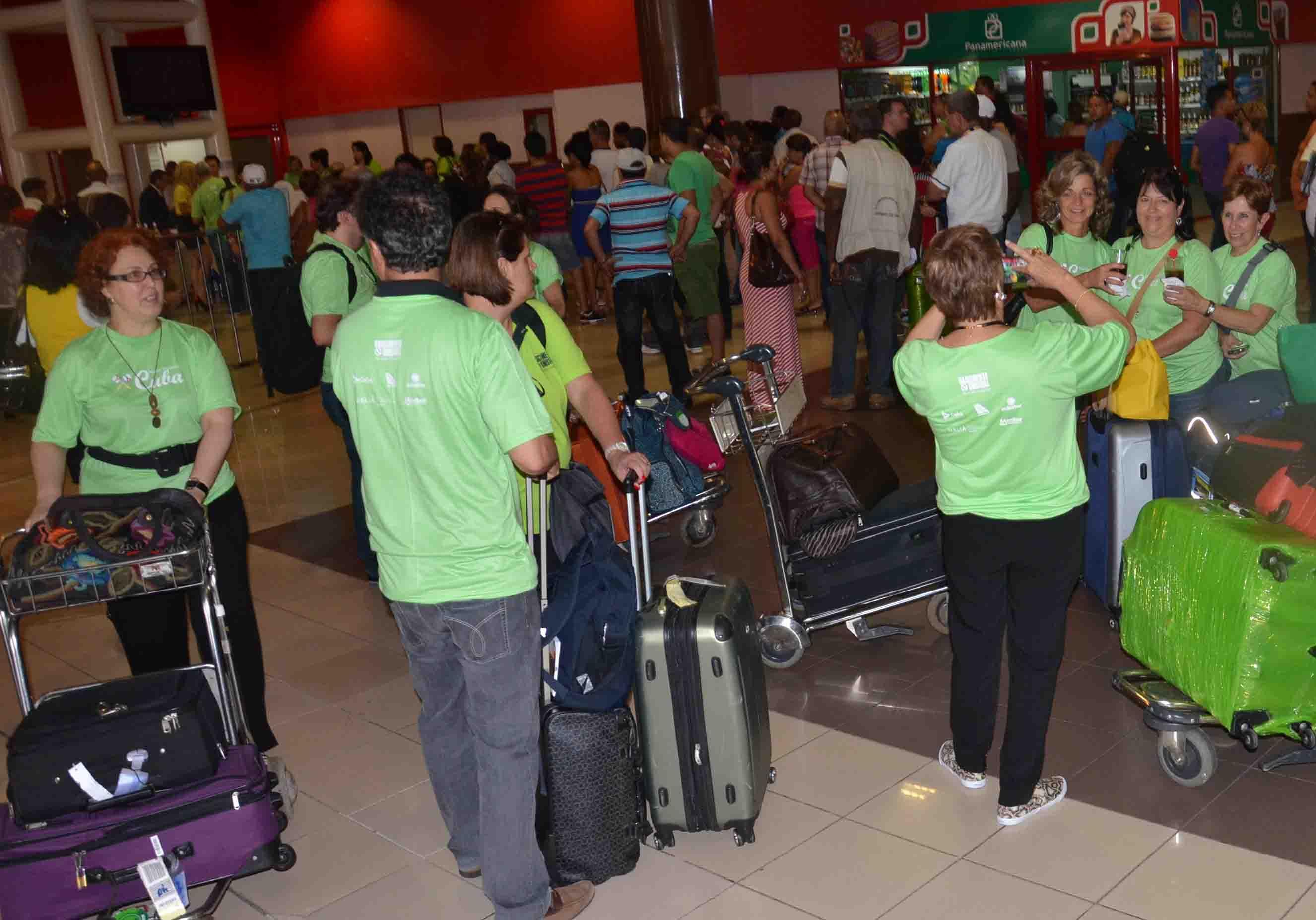 Chegada dos agentes e participantes do Nastur Cuba, em Havana