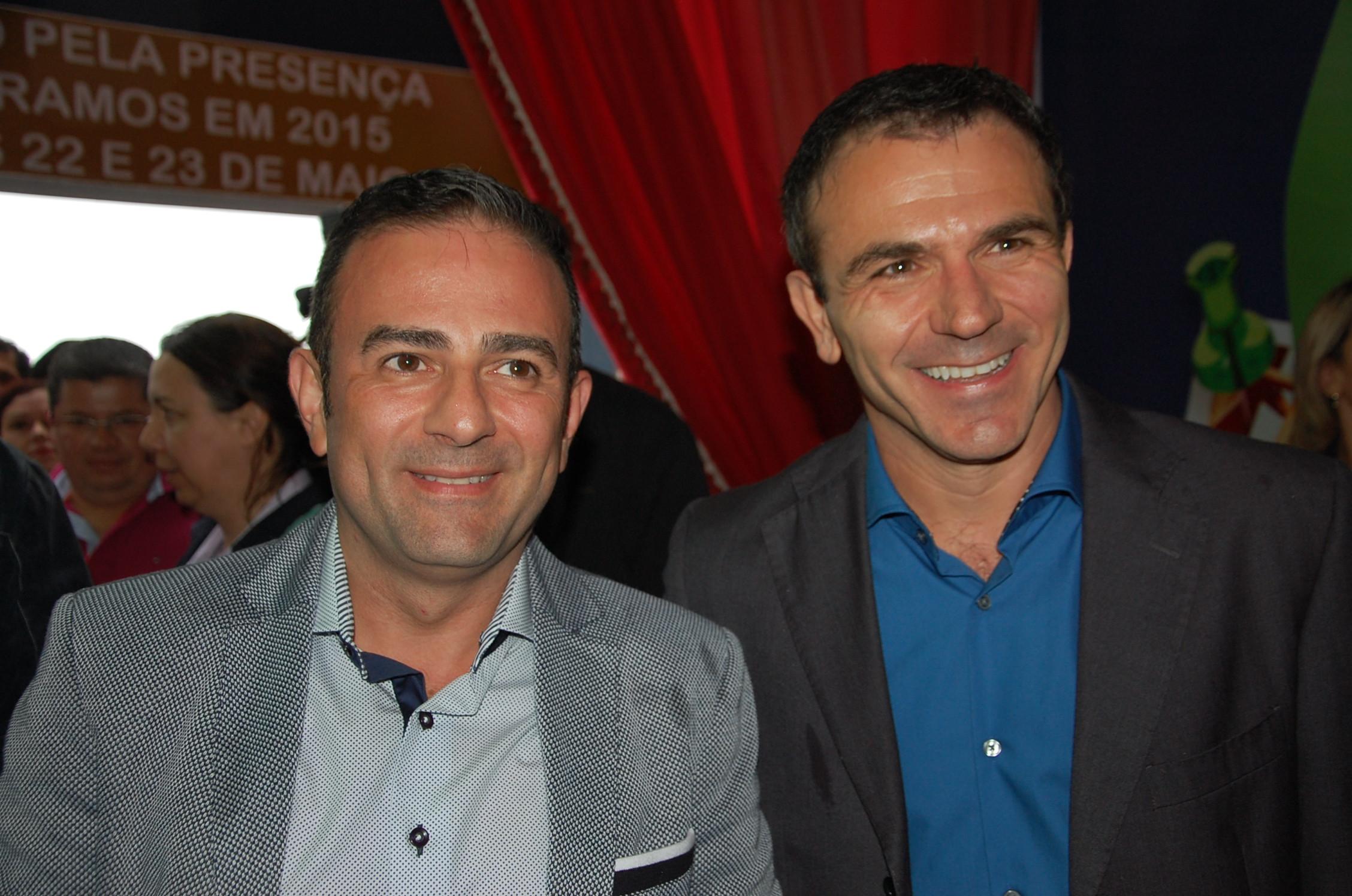 Geninho Góes e Jair Pasquini, organizadores da BNT Mercosul