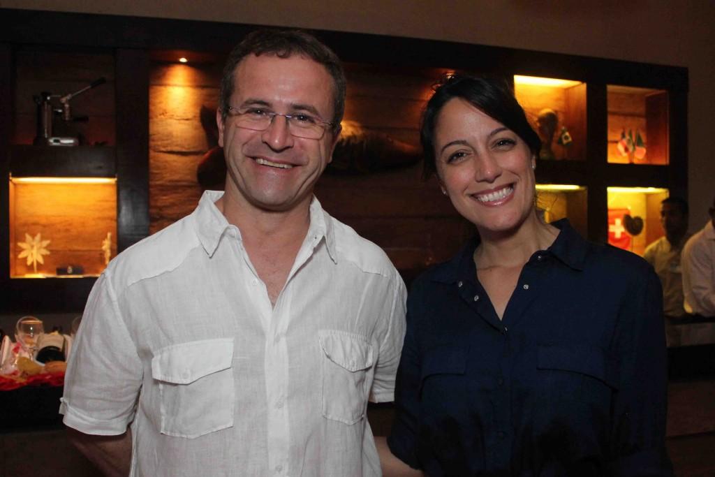 Os anfitriões Luigi Rotunno e Renata Righi, do La Torre