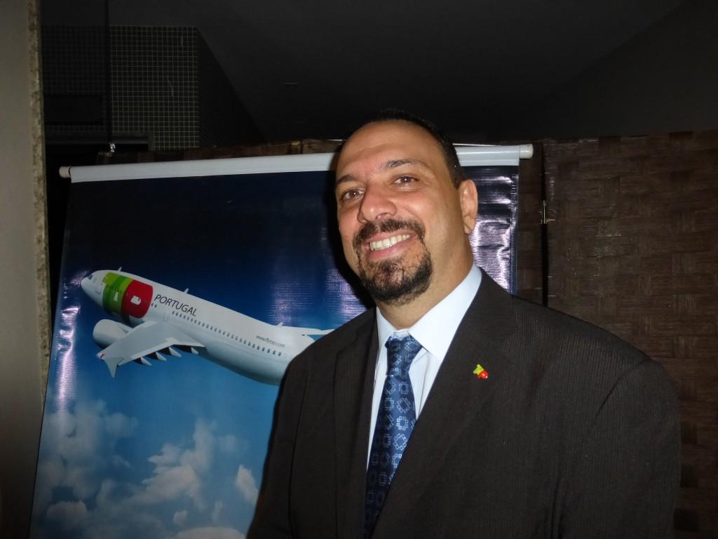 O gerente regional de Vendas da Tap, Rogério Carnevalle, que fica em Brasília