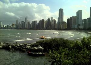 Vista de Balneário Camboriú, em Santa Catarina