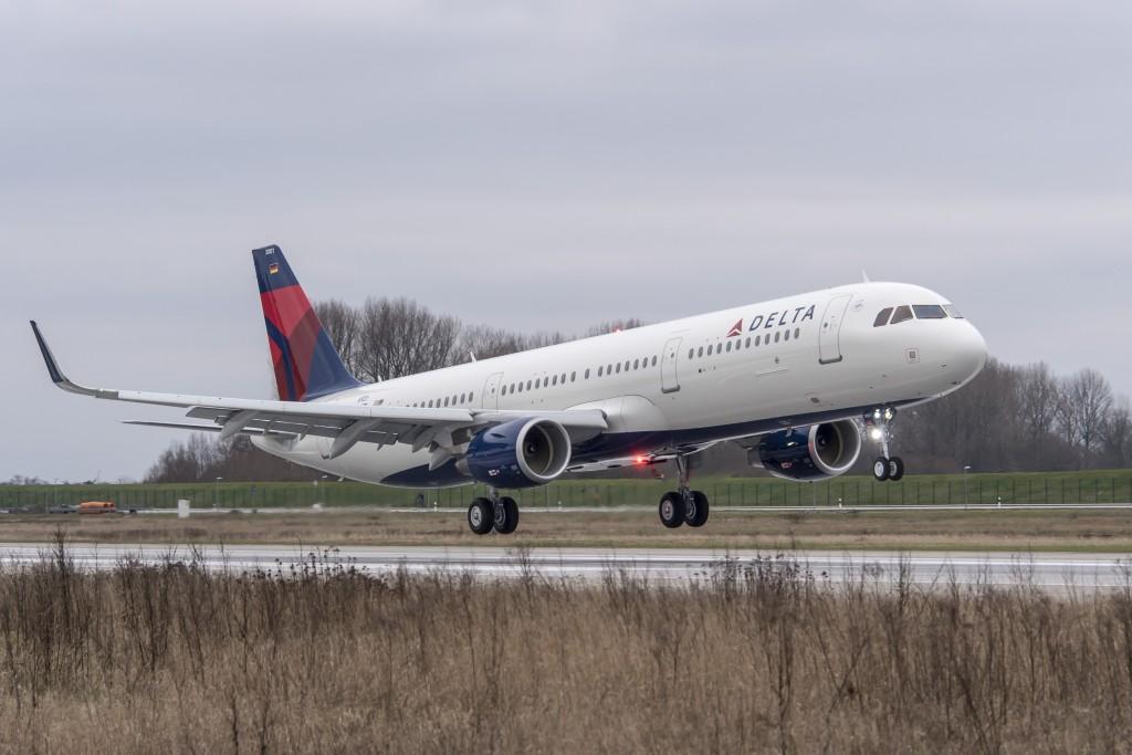 Um Airbus A321 da frota da empresa (foto divulgação/Delta Air Lines)
