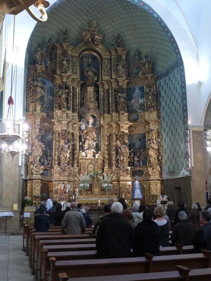 Interior da igreja Notre Dame des Anges