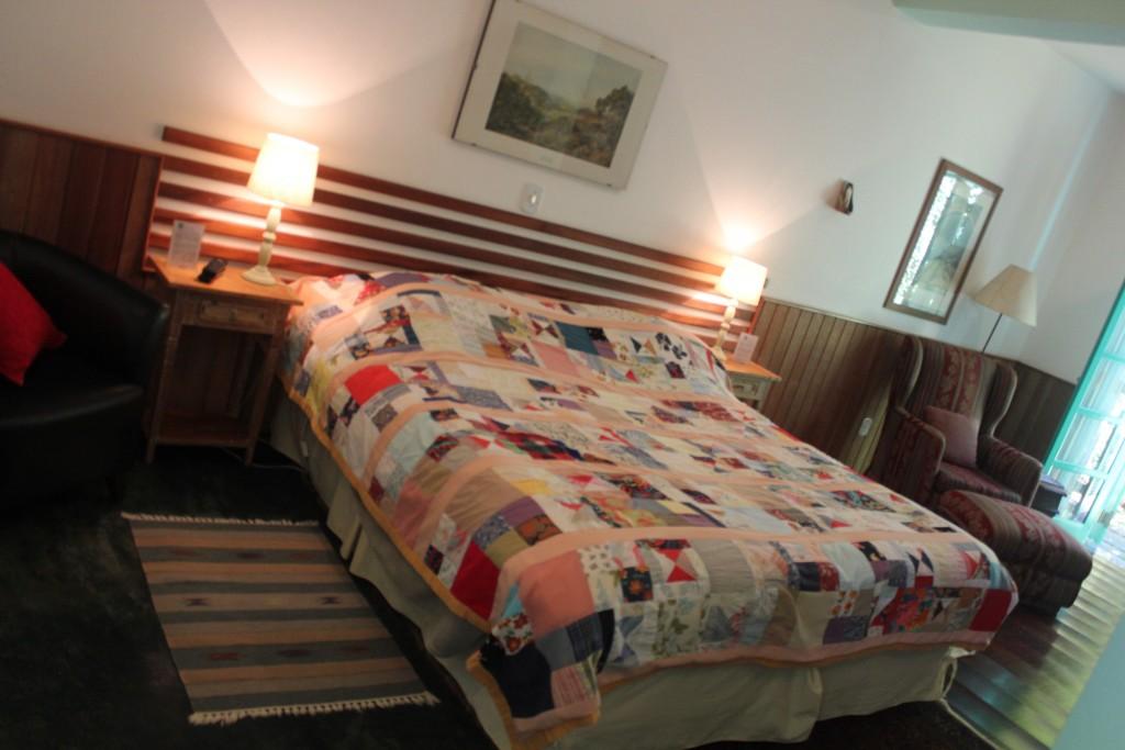 cama que dormi confortavelmente durante minha estada no Bié