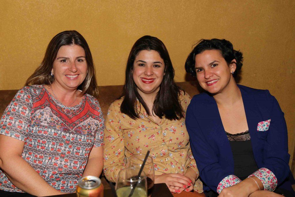 Margaret Grantham, do Centro de Turismo Alemão, com Stella Cardoso e Luciana Zacarias, ambas da Baobá Comunicação