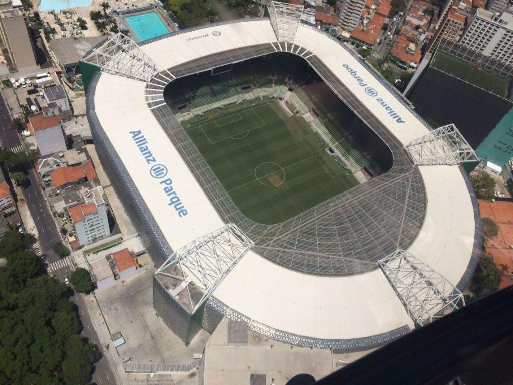 Vista do Allianz Parque, a casa do Palmeiras (foto divulgação/Allianz Parque)