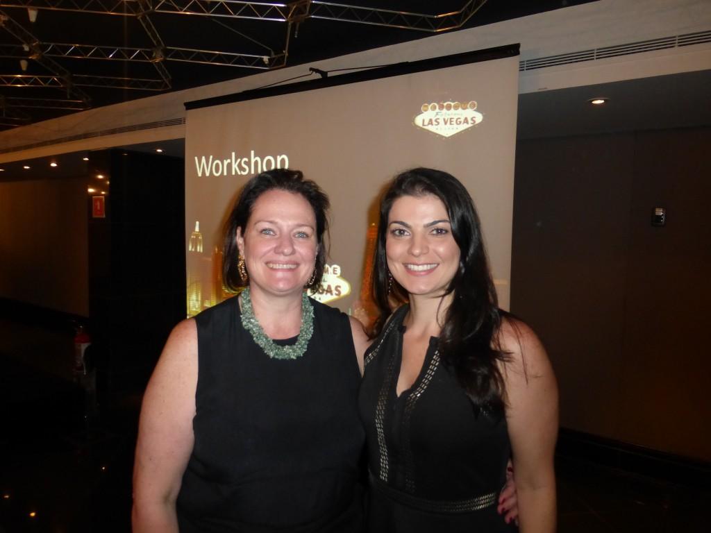 Silvia Hackmann e Julienne Gananian, ambas da Brazil Experts Bureau, no workshop de Las Vegas e CVC