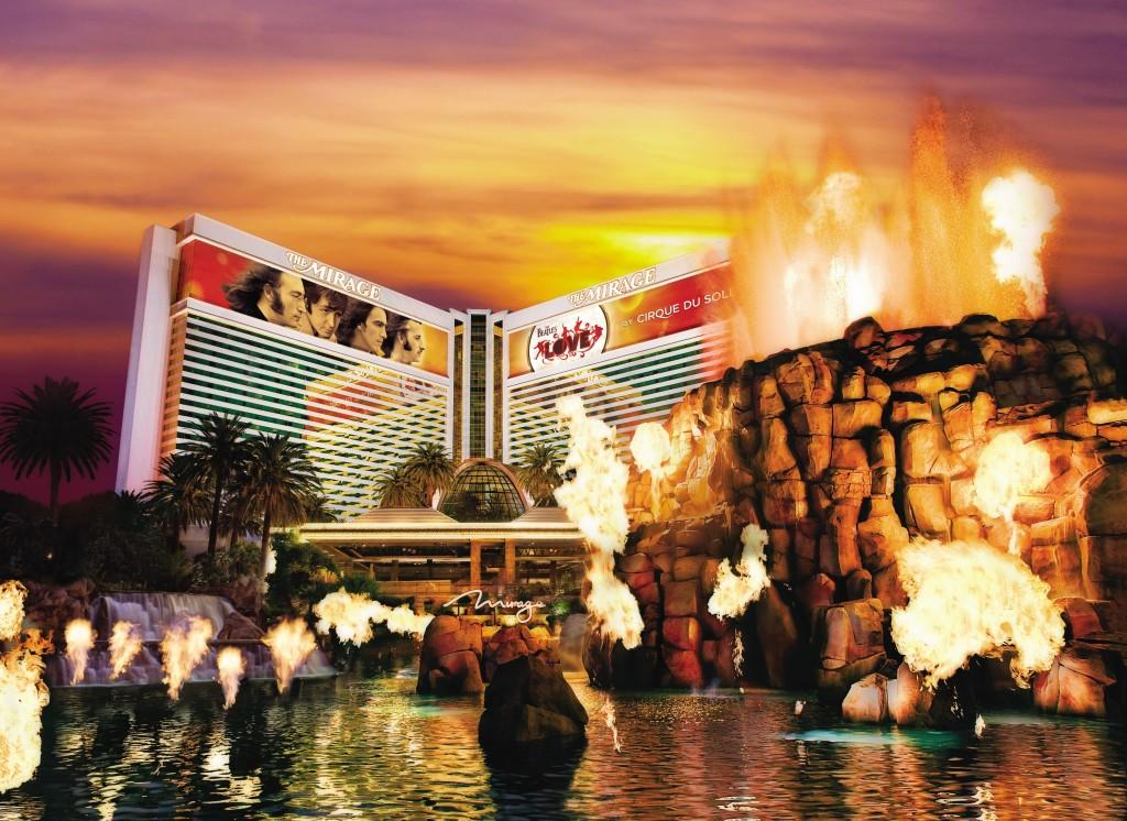 Fachada do The Mirage Resort, Spa & Casino, um dos hotéis que tem tarifa promocional da CVC (foto divulgação/MGM Resorts International)