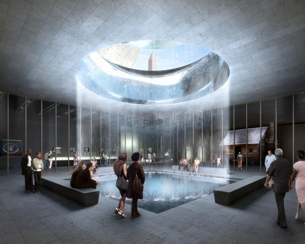 Ilustração da área interna do museu