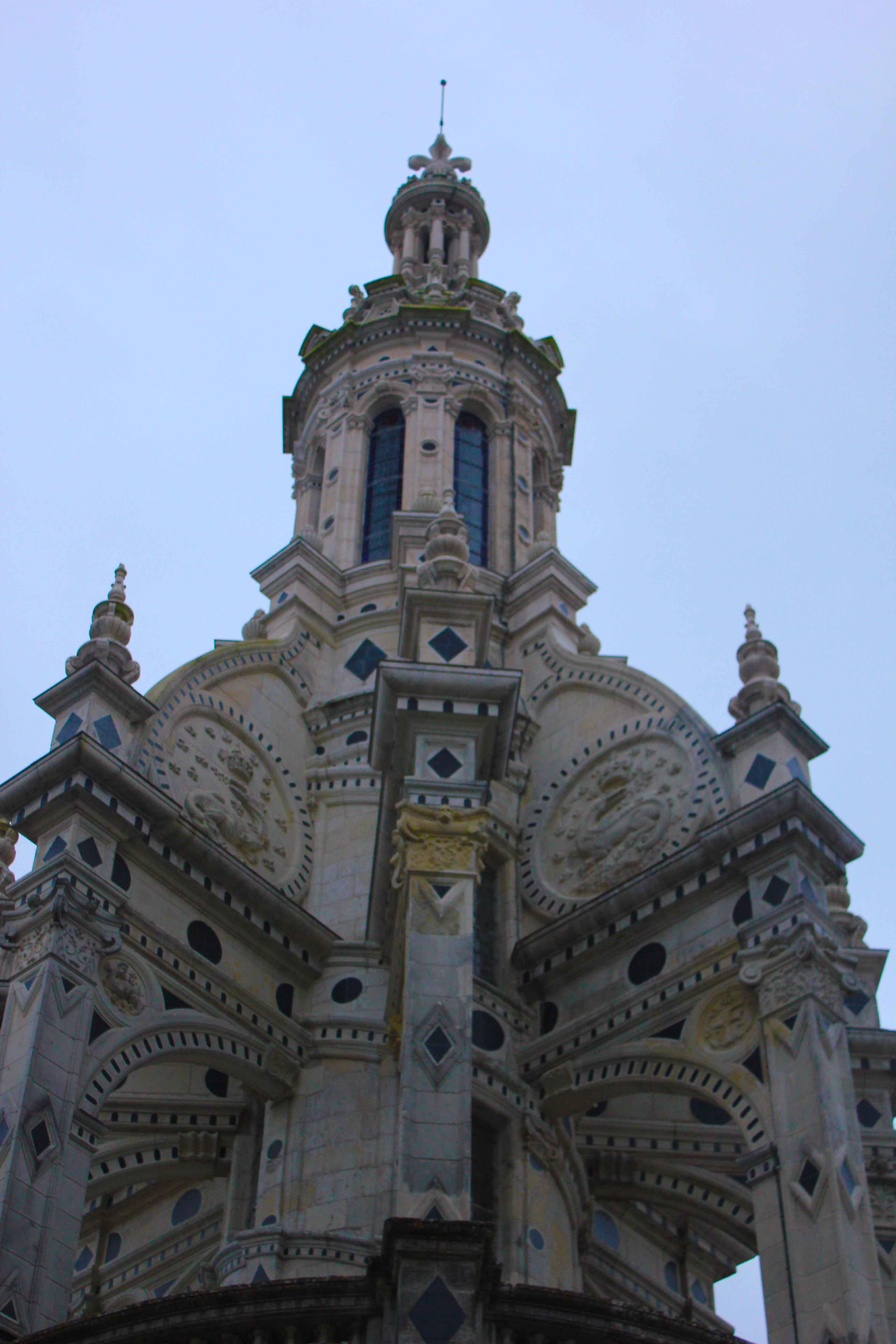 Detalhe da torre do Castelo de Chambord
