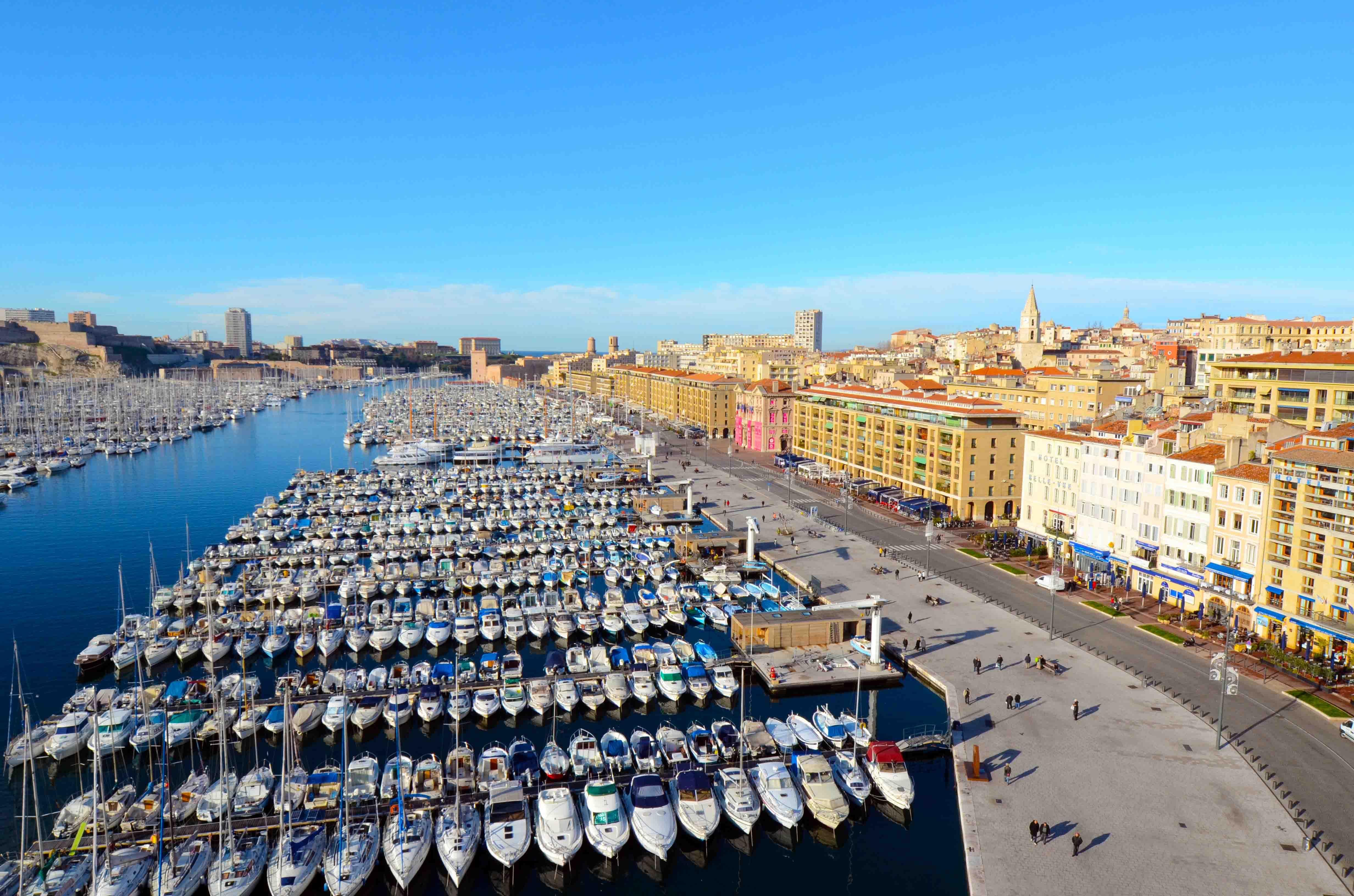 Vista do Porto de Marseille