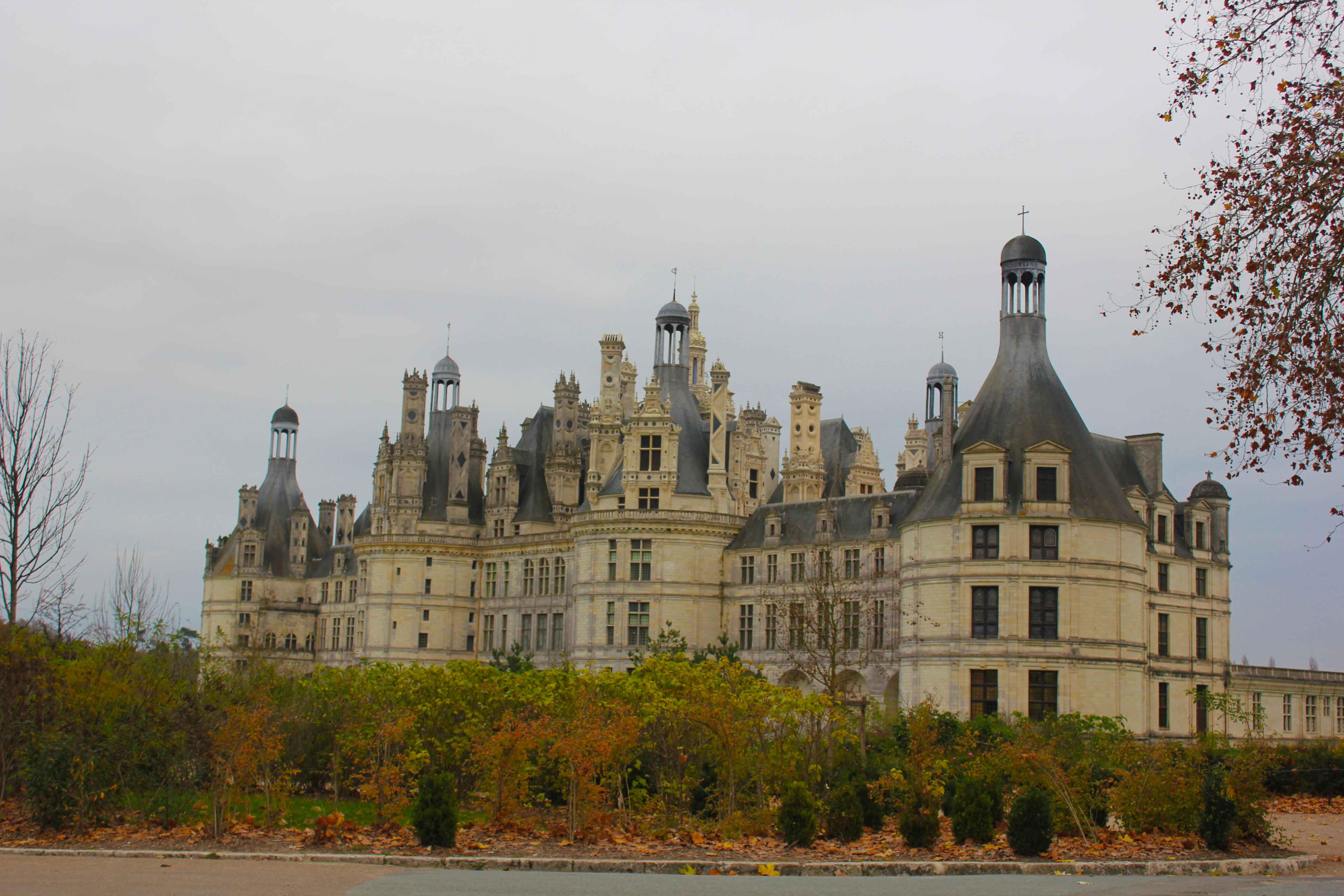 O Castelo de Chambord é um dos maiores do Vale do Loire