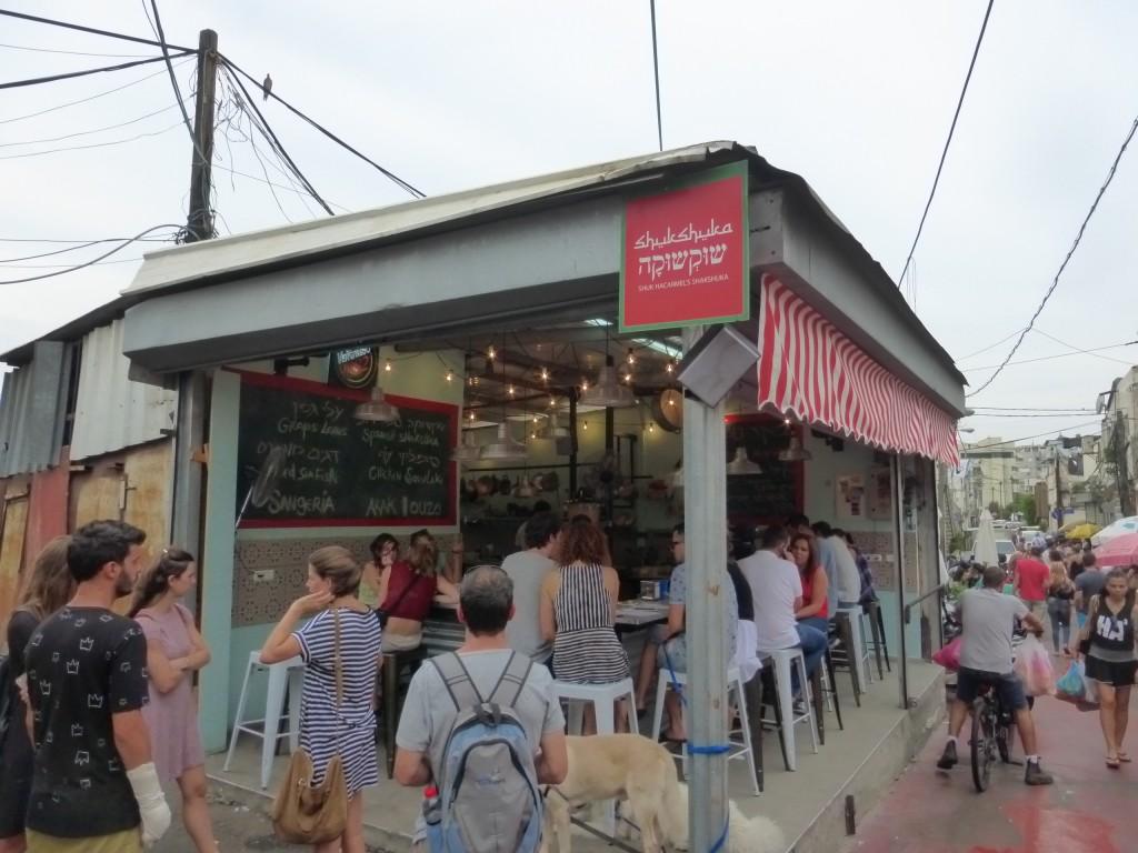 O restaurante Shukshuka, no Mercado Hacarmel