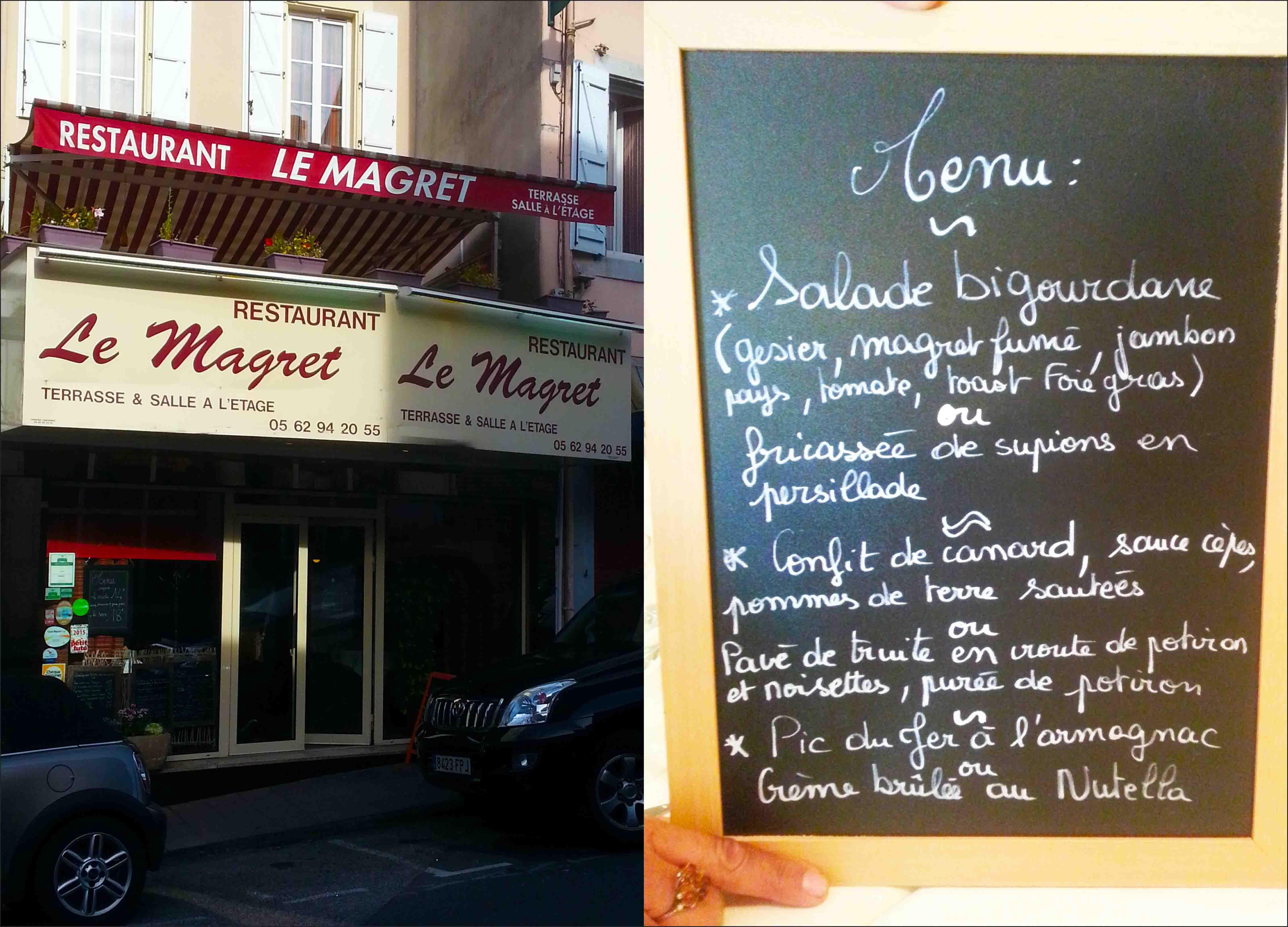 Restaurante e menu. Os franceses são autênticos e regionalistas
