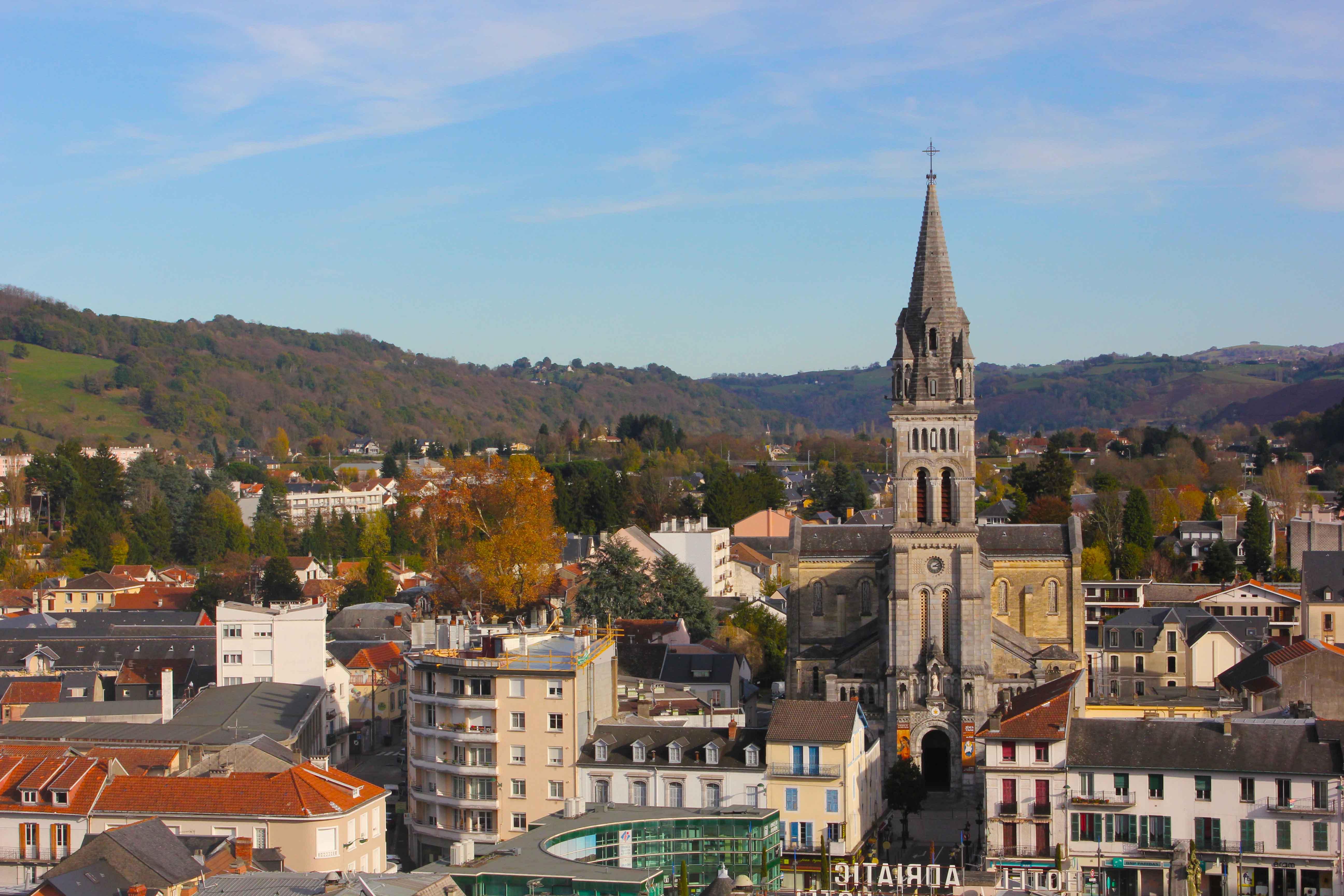 Vista de parte da cidade de Loudes