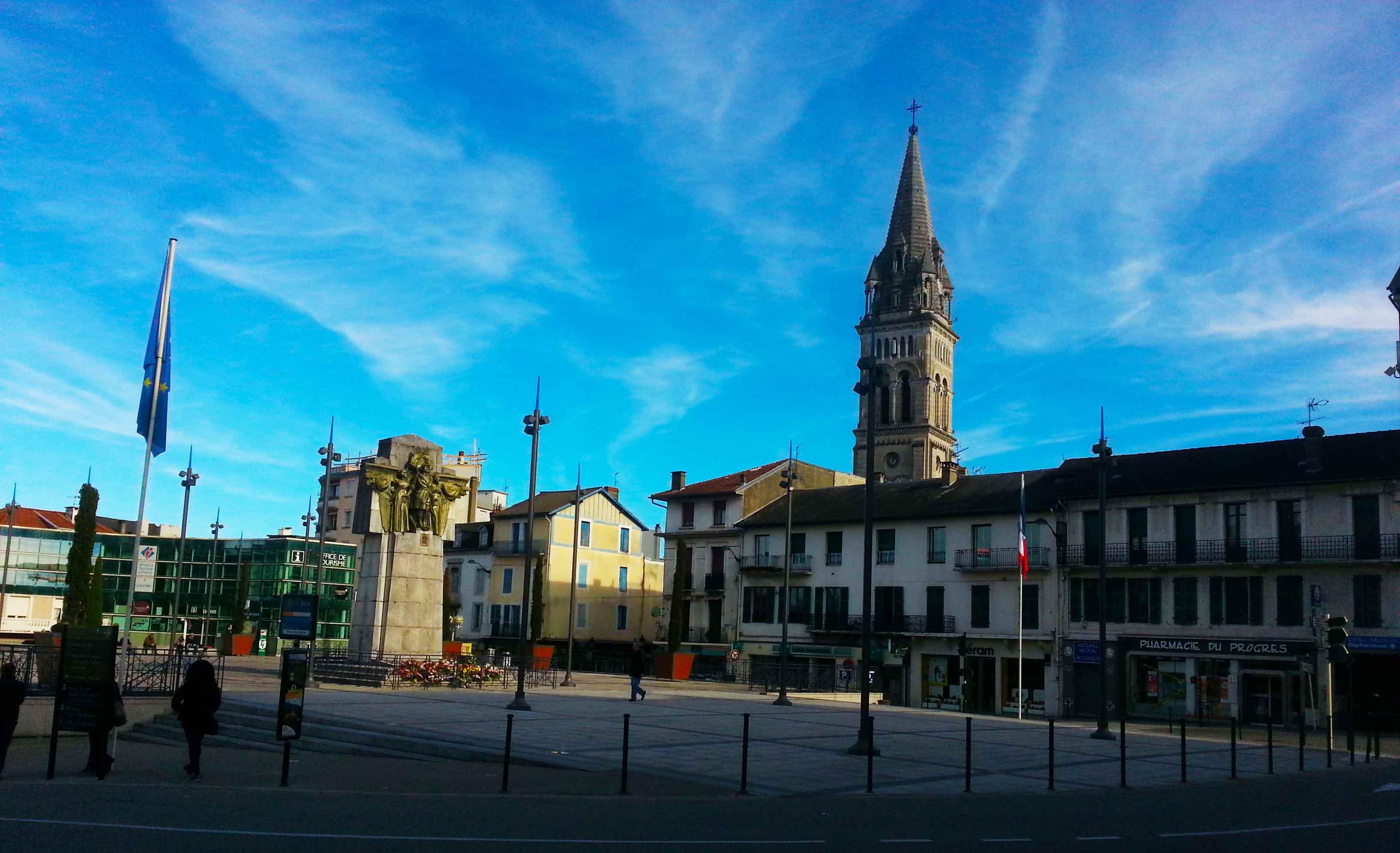 Vista do centro de Lourdes