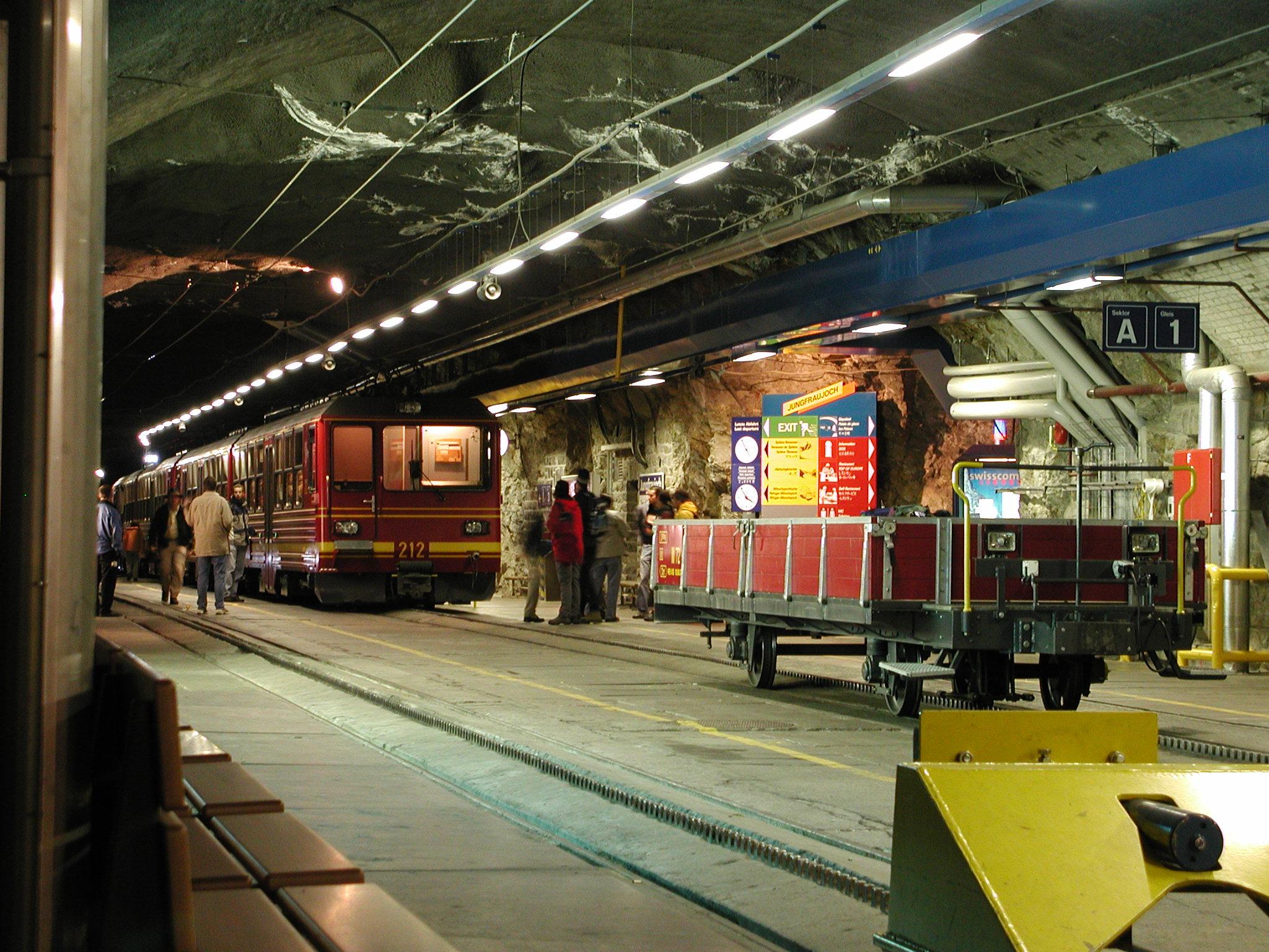 Estação da Jungfrau Railway - (Foto: Wikimedia Commons)