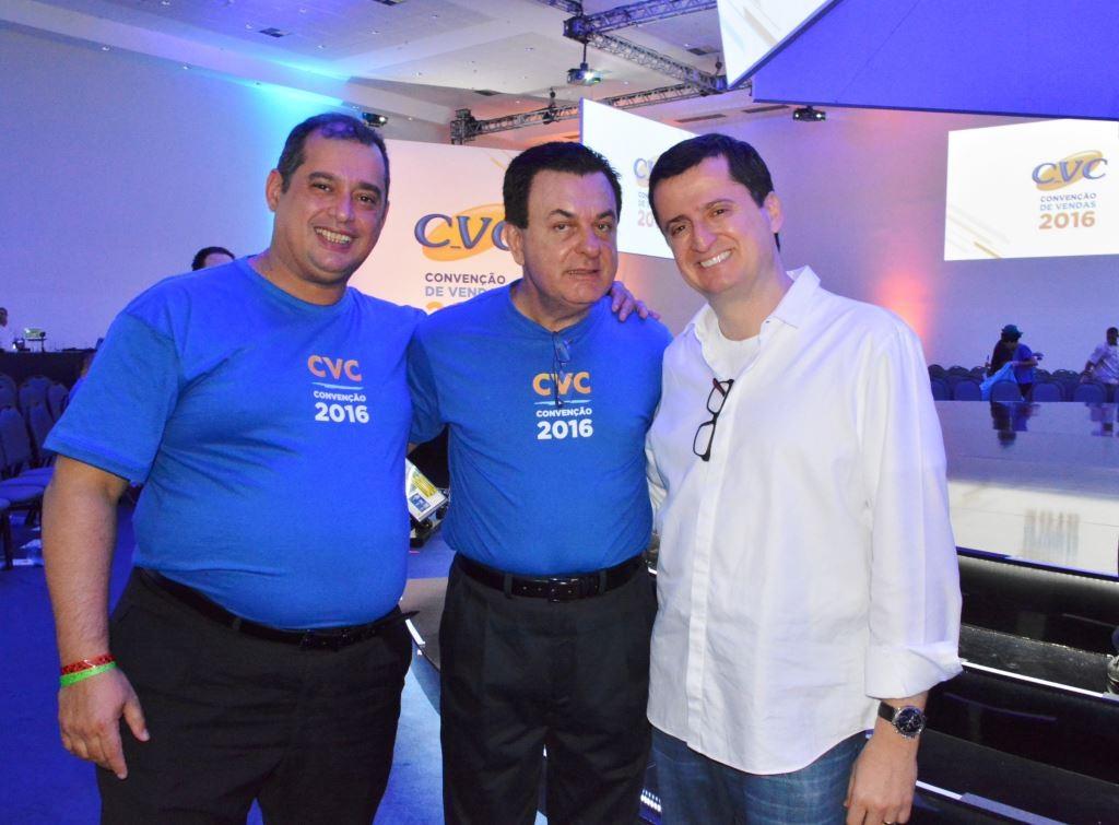Adriano Gomes, Patriani e João Fernando Vassão no evento