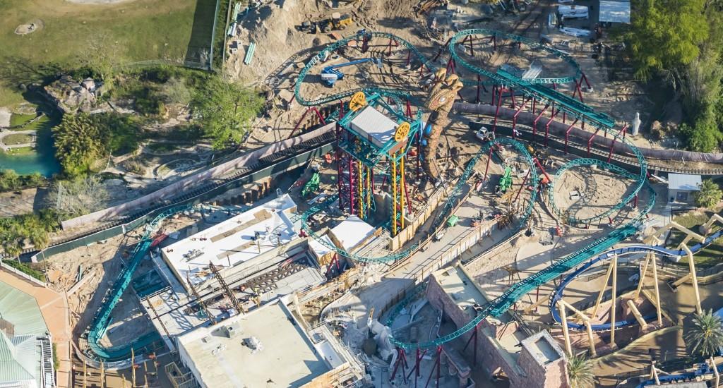 Imagem aérea da Cobras Curse, no Busch Gardens Tampa Bay - (Fotos: Divulgação)
