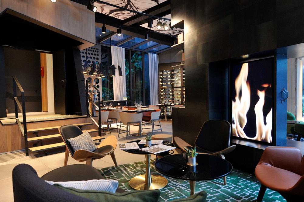 Restaurante e bar do Hotel Cinq Codet