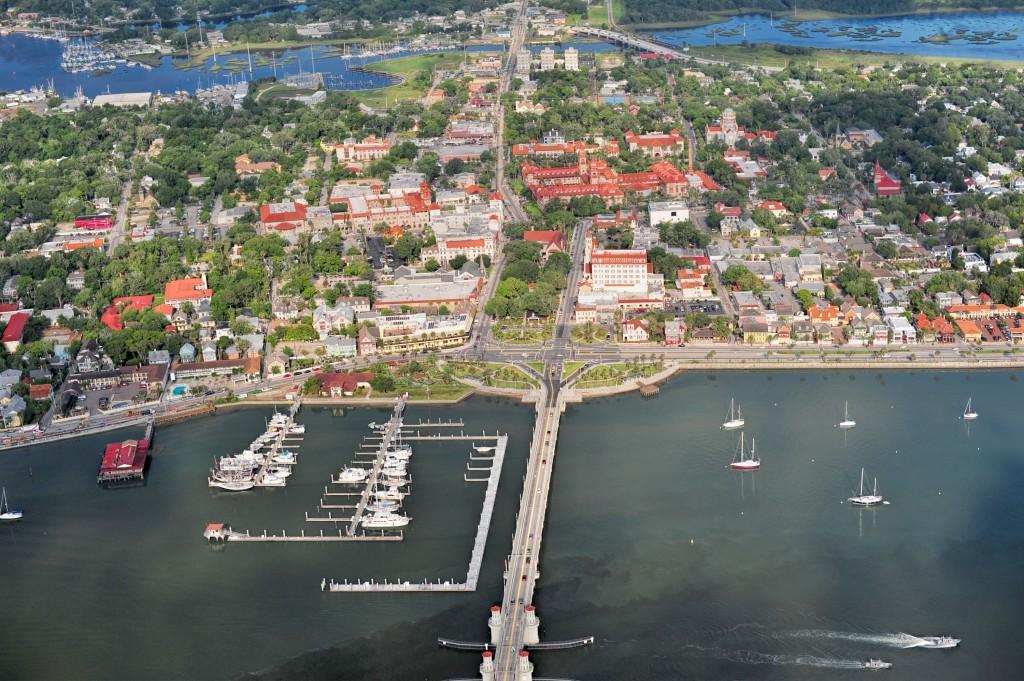 Vista aérea de St.Augustine, a cidade mais antiga dos Estados Unidos (fotos divulgação/