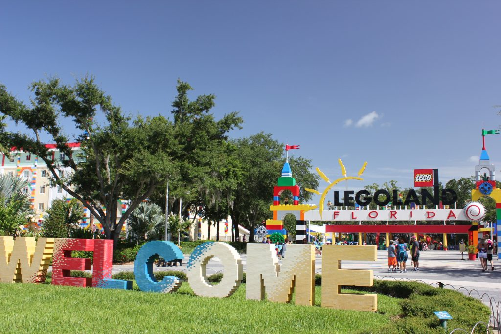 Entrada do Legoland Florida