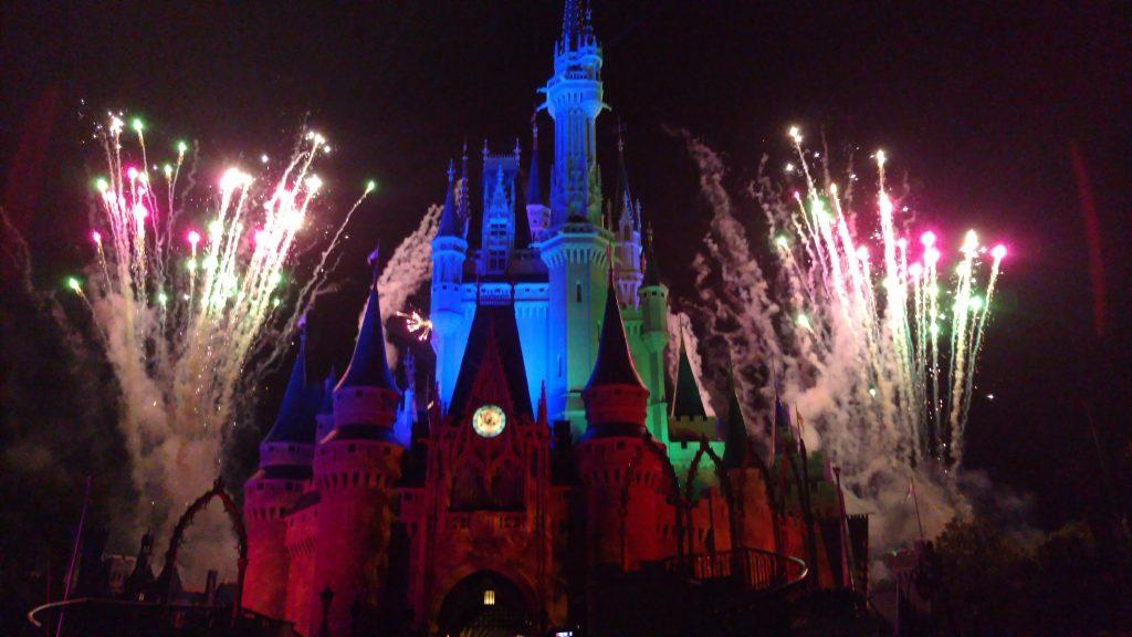 Vista do Castelo na queima de fogos