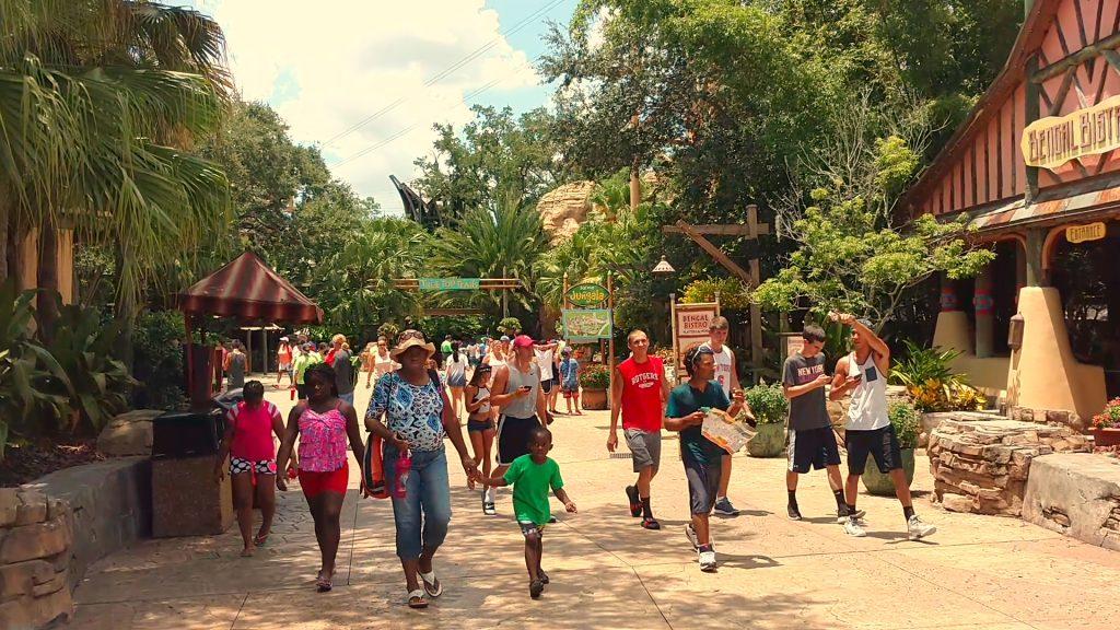 O parque é ideal para a diversão em família