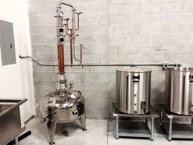 Equipamento utilizado pela destilaria