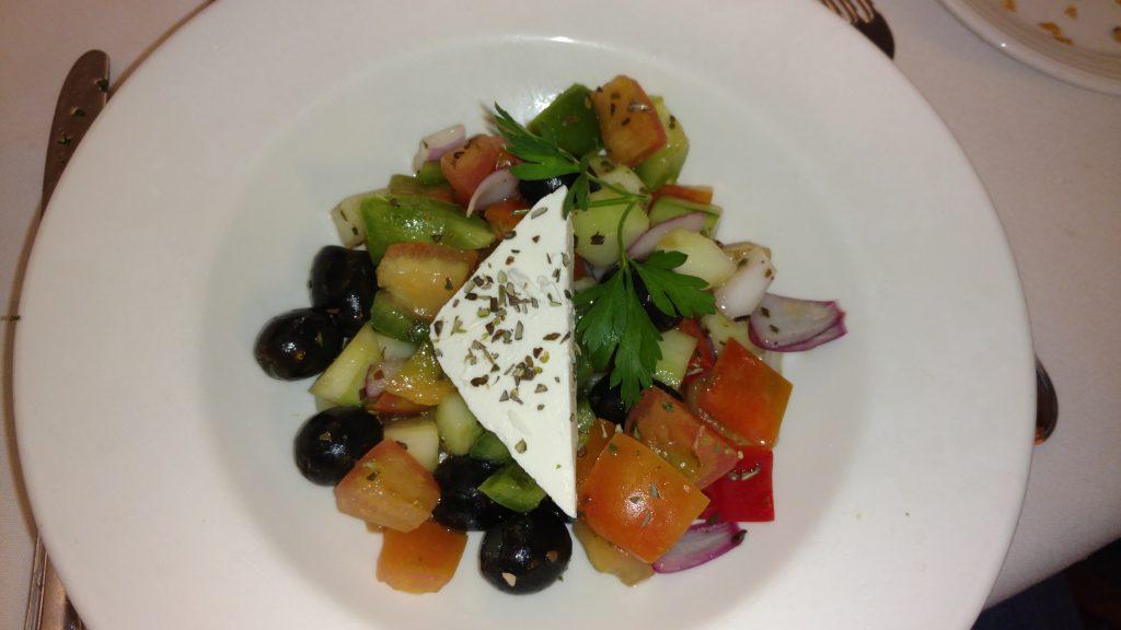 Salada top servida no Boreas