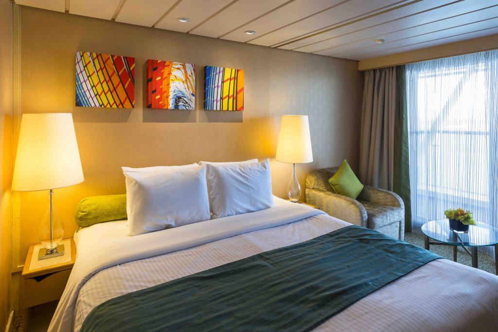 uma das opções de cabine do navio