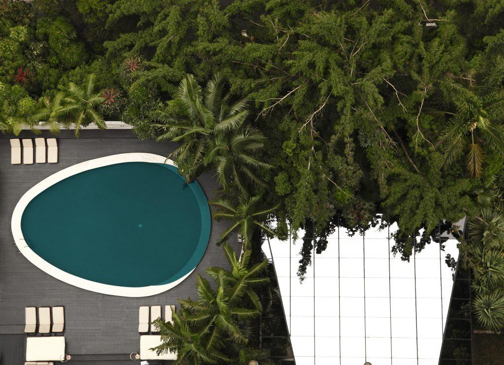 Vista aérea da piscina do cinco estrelas (foto divulgação/Tivoli Mofarrej)