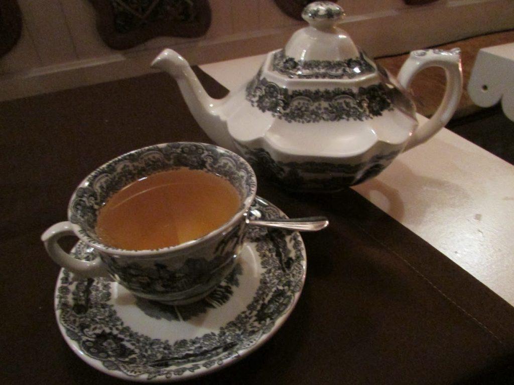 O chá de hortelã