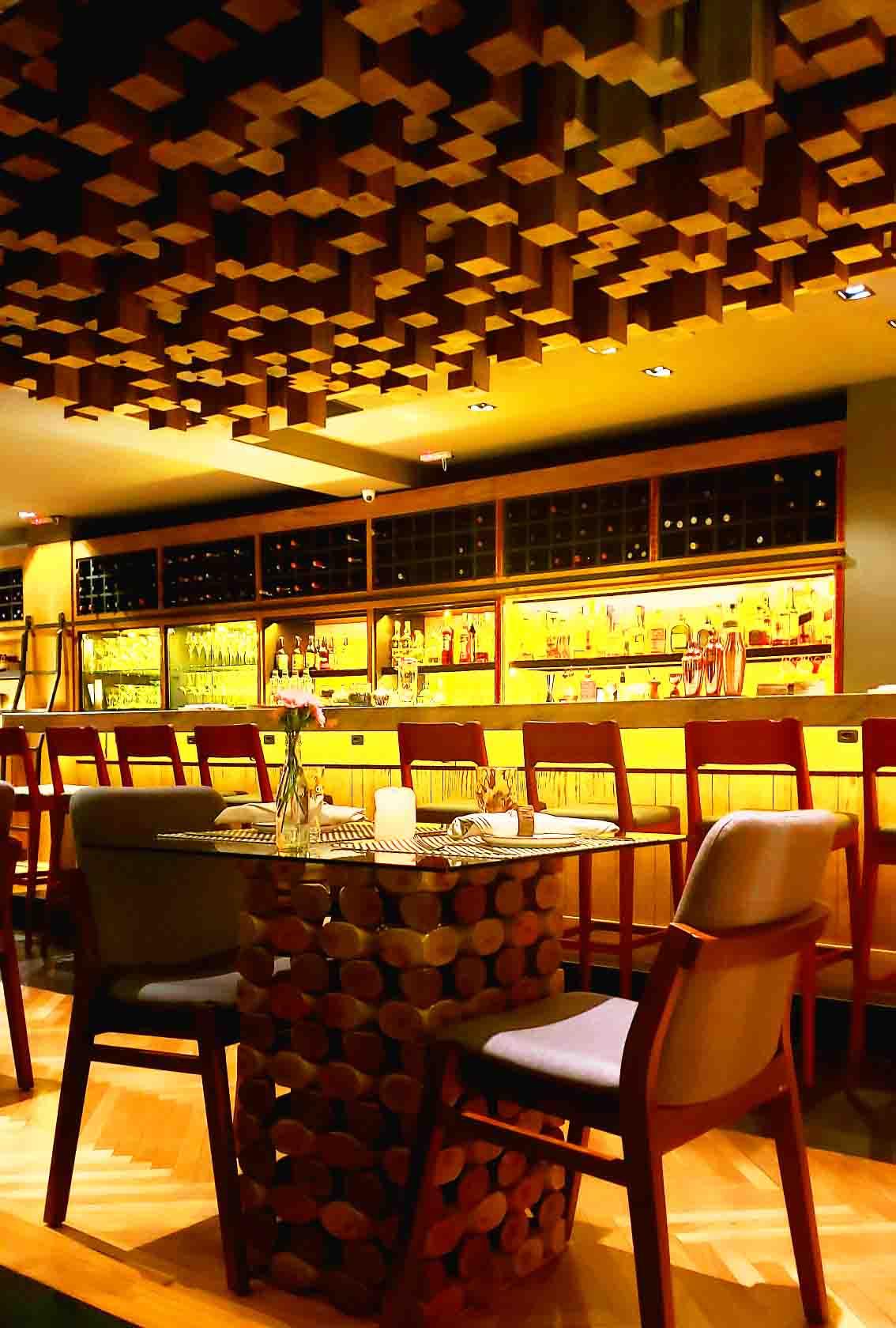 Decoração do Wood Restaurante